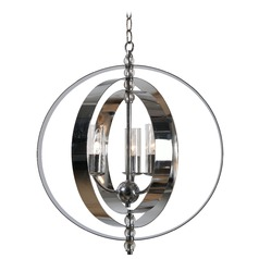 Kenroy Home Jaquelyn Chrome Mini-Chandelier