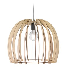 Arnsberg Wood Pendant Light with Bowl / Dome Shade