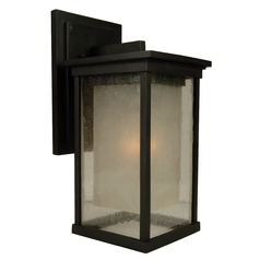 Seeded Glass Outdoor Wall Light Bronze Craftmade Lighting