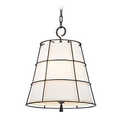 Hudson Valley Lighting Savona Old Bronze Pendant Light with Empire Shade