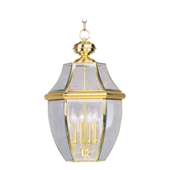 Livex Lighting Monterey Polished Brass Outdoor Hanging Light
