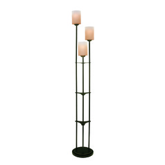 Lite Source Bess Dark Bronze Floor Lamp with Cylindrical Shade