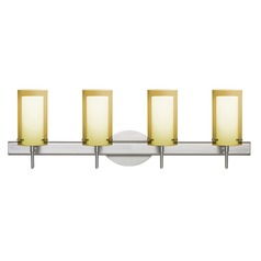 Besa Lighting Pahu Satin Nickel Bathroom Light
