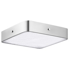 Elan Lighting Crystal Moon Chrome LED Flushmount Light