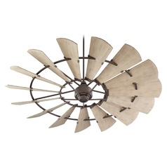Quorum Lighting Windmill Oiled Bronze Ceiling Fan Without Light