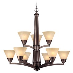 Dolan Designs Lighting Nine-Light Two Tier Chandelier 1062-206