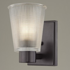 Prismatic Glass Sconce Bronze