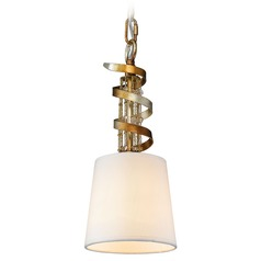 Golden Lighting Gwendolyn Golden Radiance Mini-Pendant Light with Empire Shade
