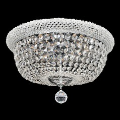 Allegri Crystal Napoli Chrome Flushmount Light