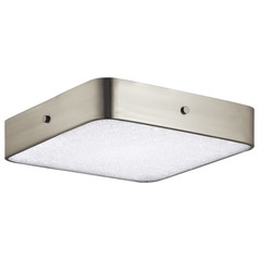 Elan Lighting Crystal Moon Brushed Nickel LED Flushmount Light