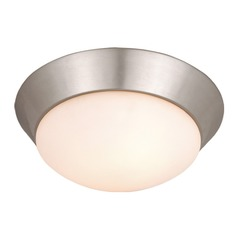 Tertial Brushed Nickel Flushmount Light by Vaxcel Lighting