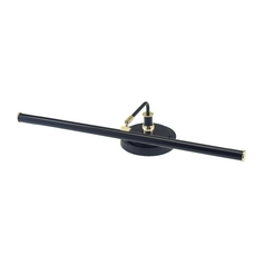 Modern LED Piano / Banker Lamp in Black & Brass Finish