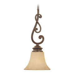 Mini Pendant Light With Amber Gl