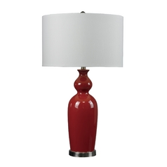 Dimond Lighting HGTV Table Lamp in Red with White Drum Shade HGTV249R