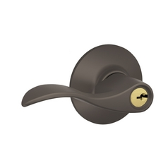 Schlage Keyed Door Lever in Oil Rubbed Bronze Finish SH F51N-ACC-613-REV