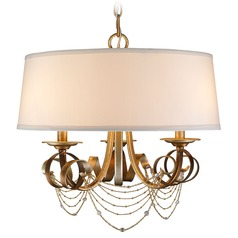 Golden Lighting Gwendolyn Golden Radiance Pendant Light with Drum Shade