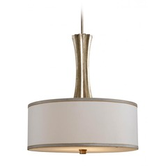 Kenroy Home Cinch Champagne Silver Gold Pendant Light with Drum Shade
