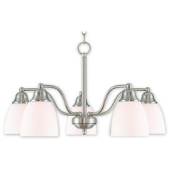Livex Lighting Somerville Brushed Nickel Chandelier