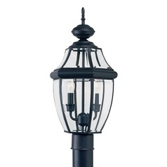 Sea Gull Lighting Lancaster Black LED Post Light