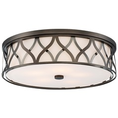 Minka Lavery Harvard Court Bronze Flushmount Light