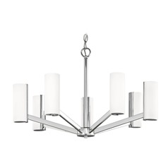 Modern LED Chandelier with 7 Lights Chrome Finish