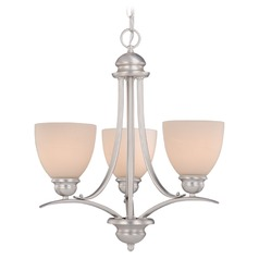 Avalon Brushed Nickel Mini-Chandelier by Vaxcel Lighting