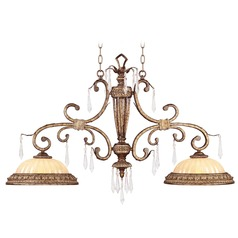 Livex Lighting La Bella Vintage Gold Leaf Island Light