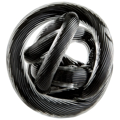 Cyan Design Braid Black Sculpture