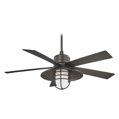 54-Inch Minka Aire Rainman Smoked Iron Ceiling Fan with Light