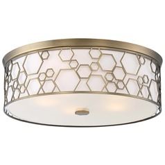 Minka Lavery Polished Satin Brass Flushmount Light