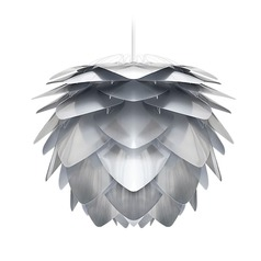 Vita Copenhagen White Plug-In Swag Pendant Light with Abstract Shade