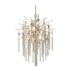 Corbett Lighting Bliss Topaz Leaf Island Light with Cylindrical Shade