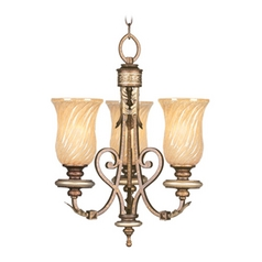 Livex Lighting Bristol Manor Palacial Bronze with Gilded Accents Mini-Chandelier