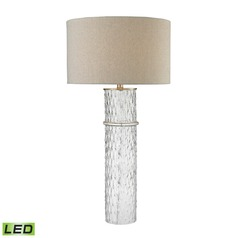 Dimond Lighting Clear LED Table Lamp with Drum Shade