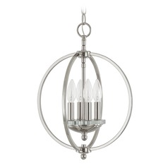 Capital Lighting Perry Polished Nickel Pendant Light