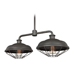 Feiss Lighting Lennex Slate Grey Metal Outdoor Hanging Light