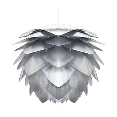 Vita Copenhagen White Pendant Light with Abstract Shade