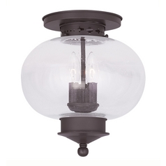 Livex Lighting Livex Lighting Harbor Bronze Close To Ceiling Light 5037-07