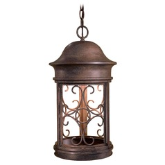 Outdoor Hanging Light in Vintage Rust Finish