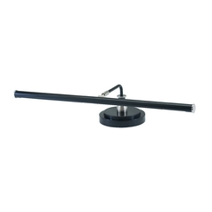 Modern LED Piano / Banker Lamp in Black & Satin Nickel Finish