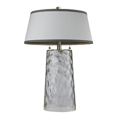 HGTV Table Lamp with Clear Water Glass