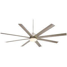 Minka Aire Fans Slipstream Xxl Brushed Nickel Ceiling Fan with Light
