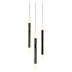 Hubbardton Forge Lighting Helix Dark Smoke LED Multi-Light Pendant