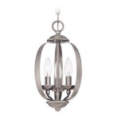Jeremiah Lighting Ensley Antique Nickel Mini-Pendant Light