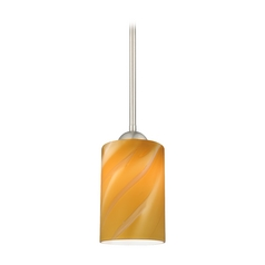 Design Classics Lighting Modern Mini-Pendant Light with Cylinder Art Glass 581-09 GL1022C