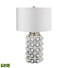 Dimond Lighting Silver Mercury LED Table Lamp with Drum Shade