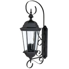 Capital Lighting Carraige House Black Outdoor Wall Light