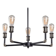 Kenroy Home Ancestry Black and Antique Bronze Chandelier