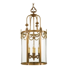 Pendant Light with Clear Glass in Dor Gold Finish