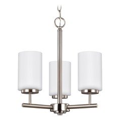 Sea Gull Lighting Oslo Brushed Nickel Mini-Chandelier